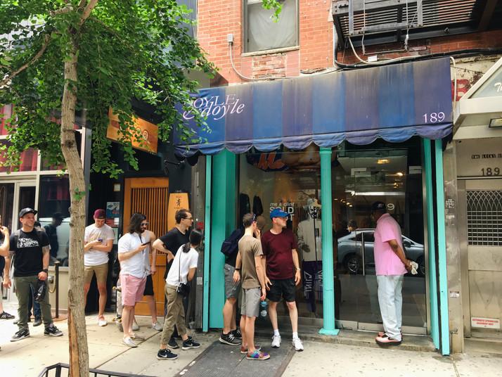 Busy LES neighborhood street