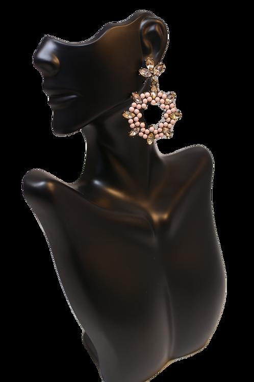 Baublebar Surgarfix  (Light Pink) - Crystal Cut-Out Drop Earrings