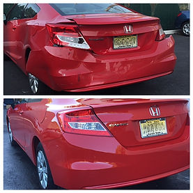 Honda civic before and after