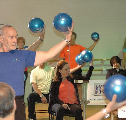 Ball Exercises Fitness Senior Style