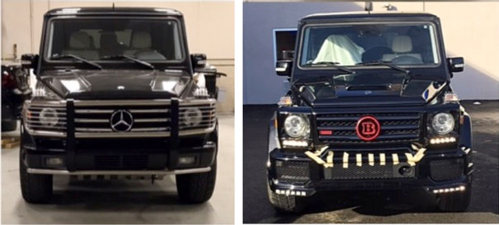 Mercedes Benz G Wagon Before and after