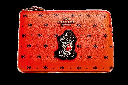 COACH Limited Edition Prairie bandana  Leather Wristlet - Red & Black