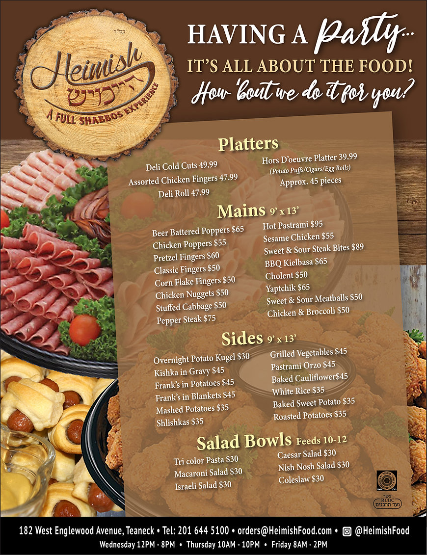 HEIMISH ad - catering menu 1-21- 10x13-0