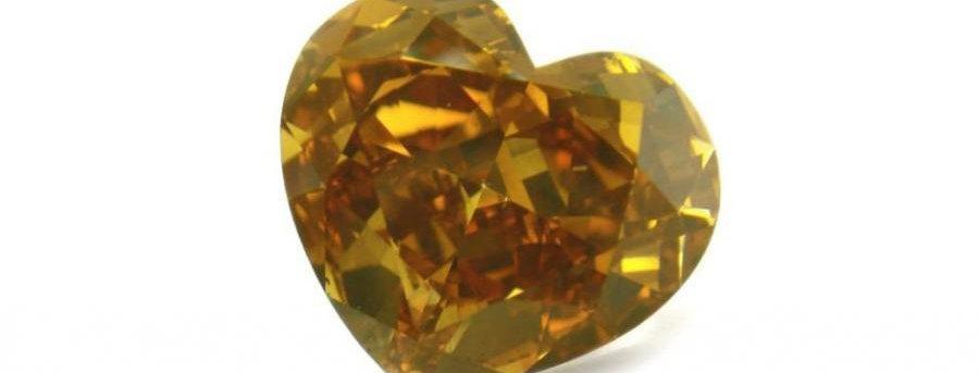 ORANGE DIAMONDS  5.01 CT FANCY DEEP BROWN ORANGE SI-1