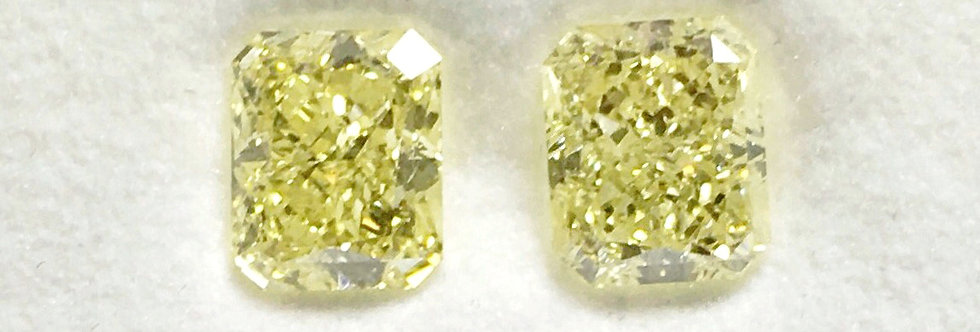 YELLOW DIAMONDS 2.73 CT T/W FANCY YELLOW VVS-2