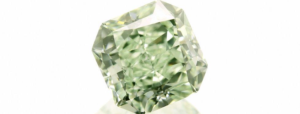 GREEN DIAMOND 1.75 CT  FANCY GREEN VVS-2