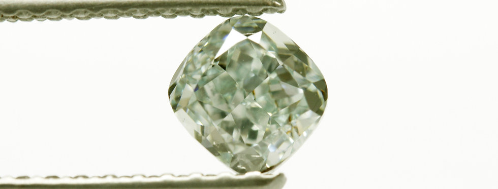 BLUE GREEN  DIAMOND 0.51 CT FANCY BLUE GREEN VS-2