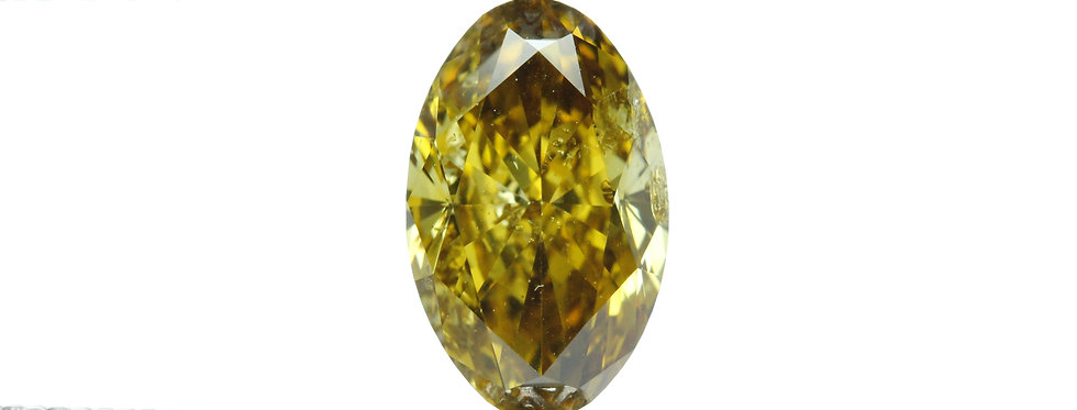 YELLOW DIAMONDS 1.07 CT FANCY DEEP BR YELLOW I-1