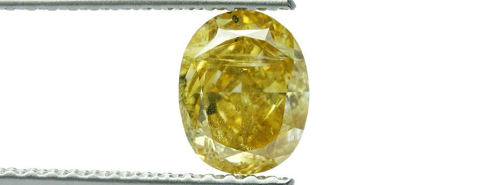 YELLOW DIAMONDS 1.02 CT FANCY DEEP BROWNISH YELLOW