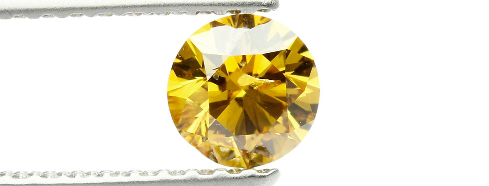YELLOW DIAMONDS 0.36 FANCY DEEP ORANGE  YELLOW I-1