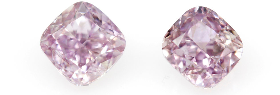PURPLE PINK DIAMONDS, MATCHING PAIR 0.50 CT T/W
