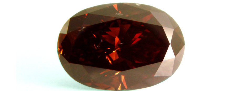 BROWN DIAMOND 1.10 CT  FANCY REDDISH BROWN SI-2