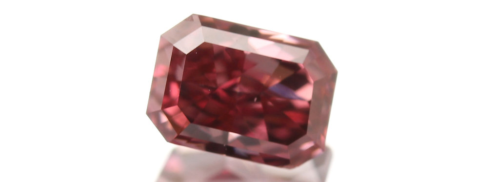 NATURAL RED DIAMOND 0.27 FANCY PURPLISH RED VS-2