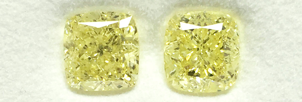 YELLOW DIAMONDS 2.76 CT T/W FANCY LIGHT YELLOW