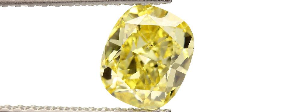 YELLOW DIAMONDS 1.01 CT  FANCY VIVID YELLOW SI-1