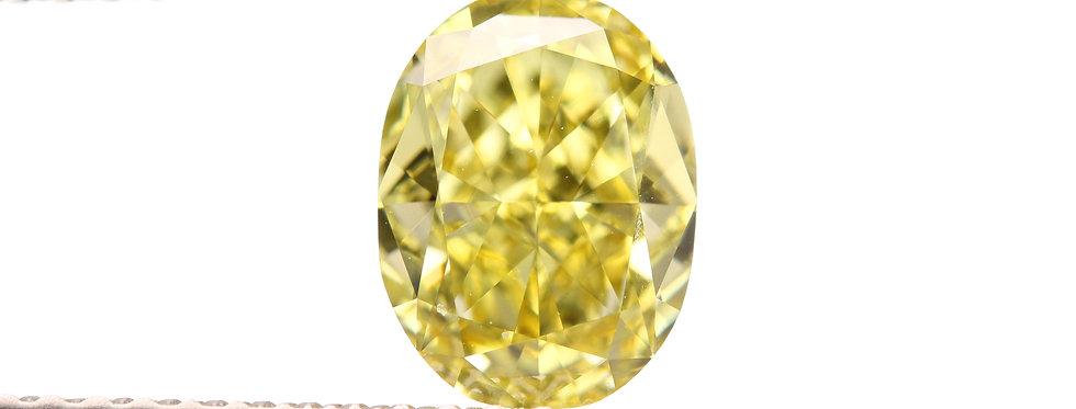 YELLOW DIAMONDS 1.28 CT FANCY INTENSE YELLOW VVS-2