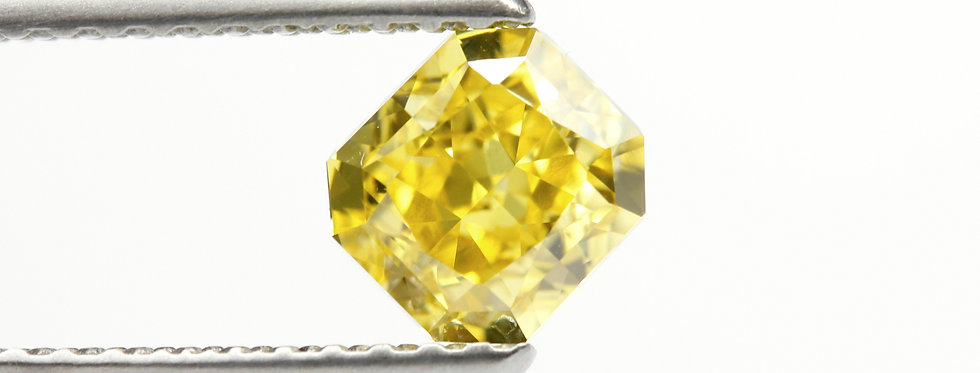 YELLOW DIAMONDS 0.77 CT  FANCY VIVID YELLOW VVS-2