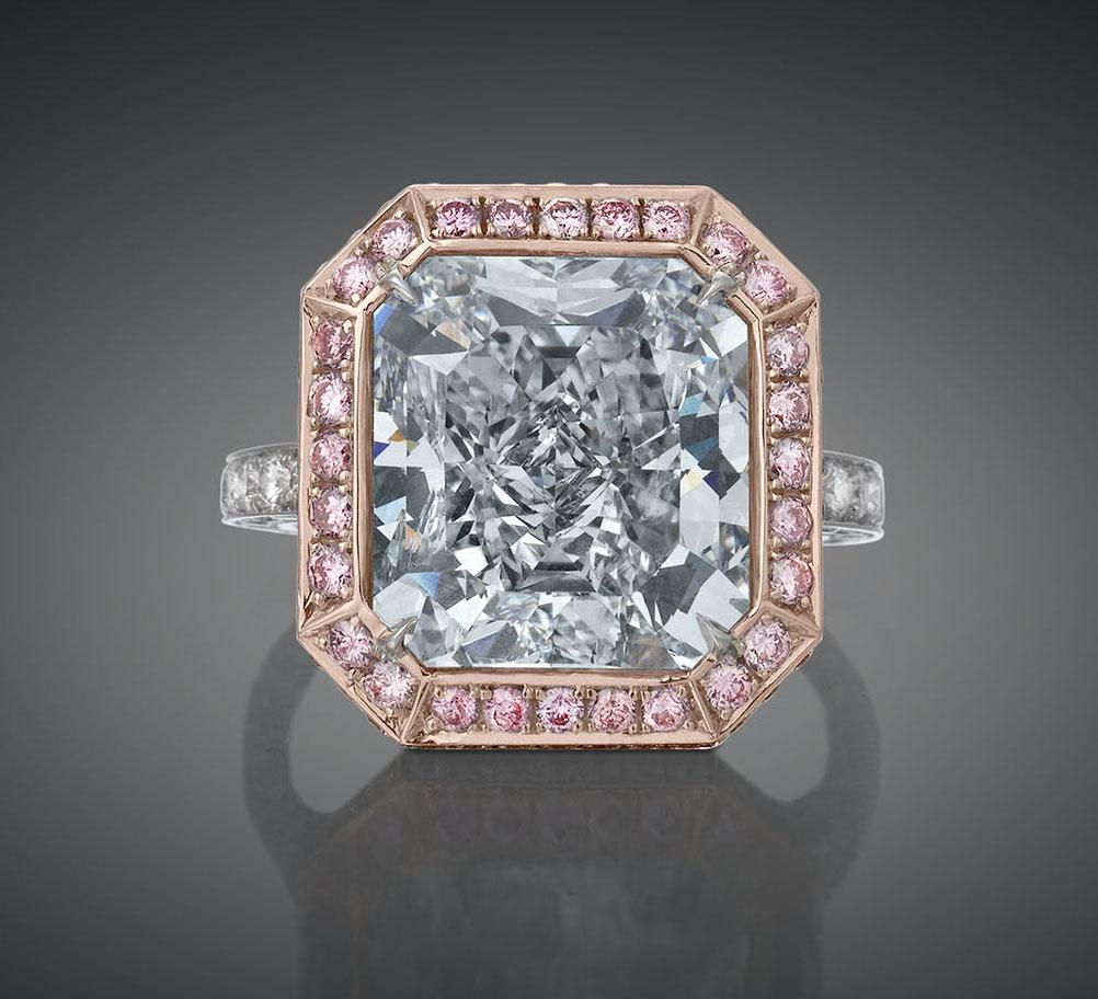 Blue Diamond Ring.