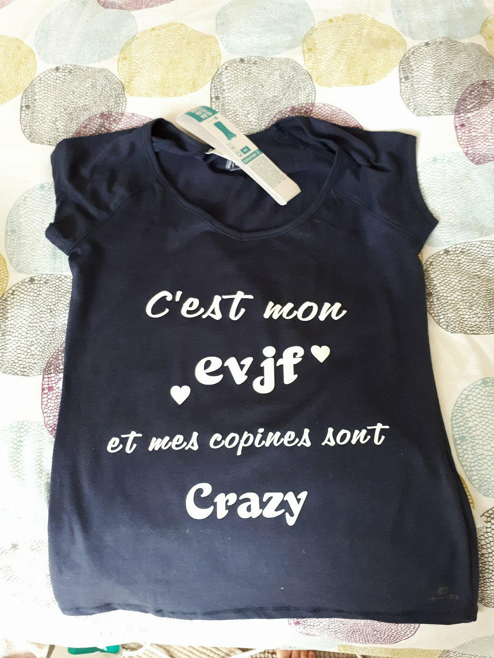T-shirt Domyos, flocage du T-shirt fait par Love and So