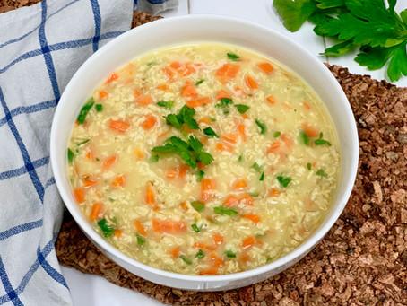 Haferflockensuppe mit Karotten