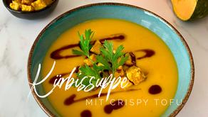 Kürbissuppe mit Crispy Tofu