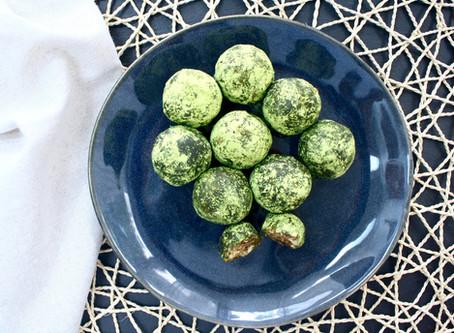 Matcha Bliss Balls - gesunder Snack