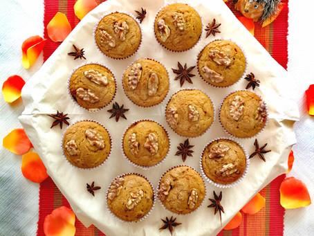 Herbstliche Kürbismuffins