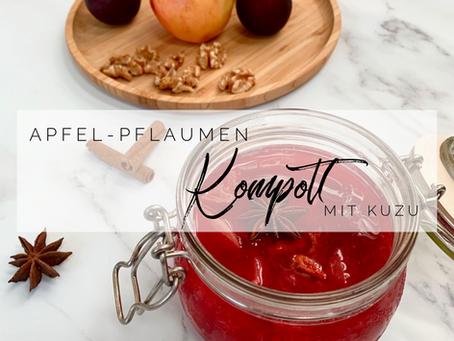 Apfel Pflaumen Kompott (zuckerfrei)