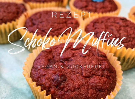 Schoko-Muffins vegan + zuckerfrei
