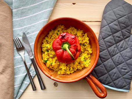Vegane gefüllte Paprika