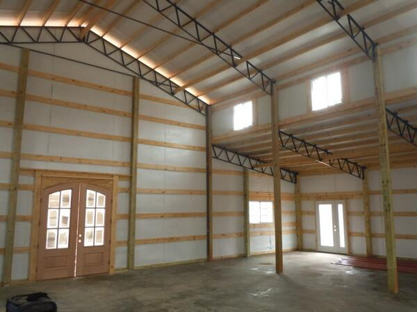 Steel Truss Pic Enclosed Gables and Shed