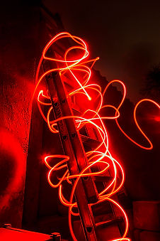 abstract ladder light painting