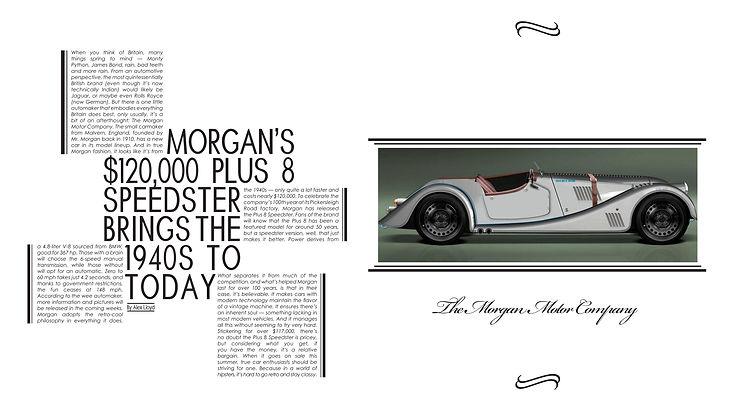 article digital design graphic car morgan motor company white page