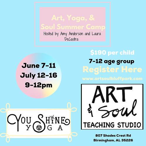 Art & Yoga Camp July 12th-16th
