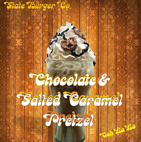 chocolate salted caramel pretzel milksha
