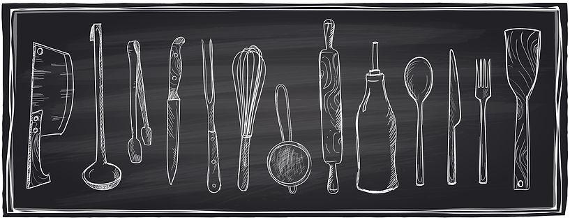 hand-drawn-set-of-kitchen-utensils-on-a-