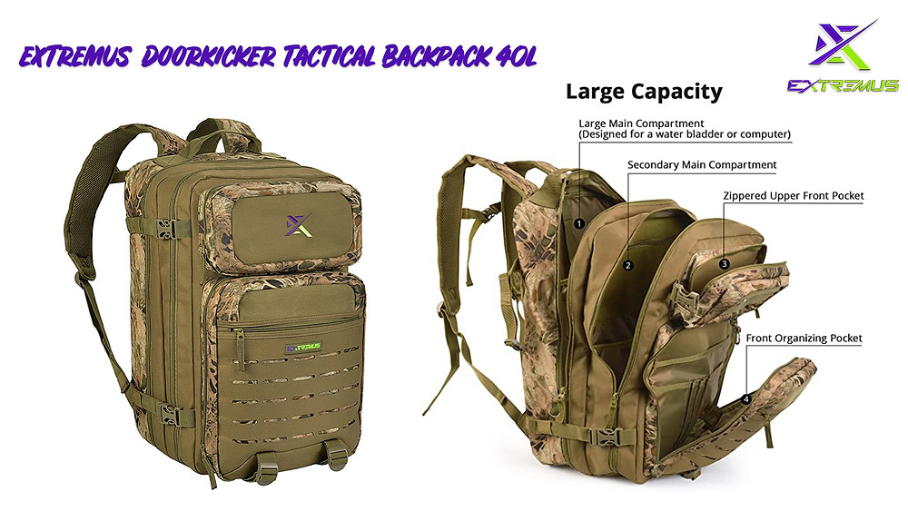 Tactical camo backpack