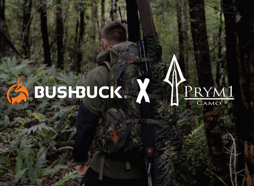 Prym1 Camo® announces partnership with Kiwi outdoor e-commerce clothing & gear company, Bushbuck NZ.