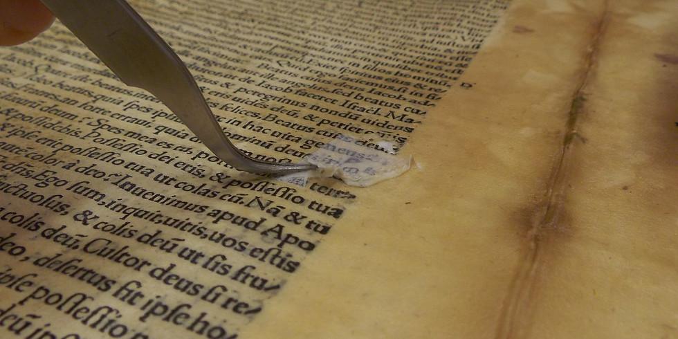 Restauración de documentos y obra gráfica sobre papel
