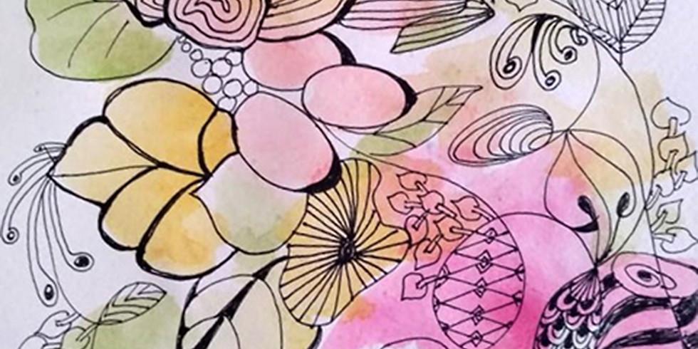 El dibujo relajante y la técnica Zentangle