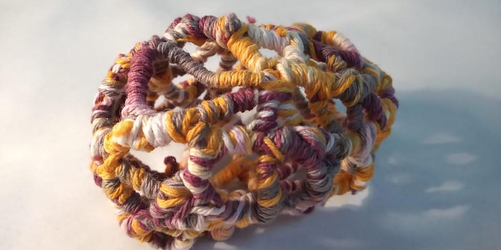 Experimentación textil con técnicas de cestería
