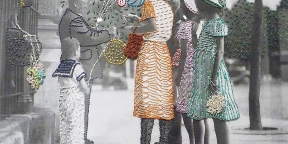 Experimentación textil: Bordado sobre fotografía, retrato