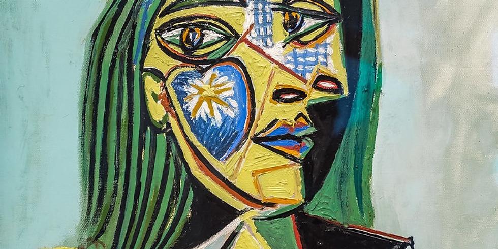 Zentangle- Reinterpretación de la obra de Picasso, Van Gogh, Modigliani, y Frida Kahlo