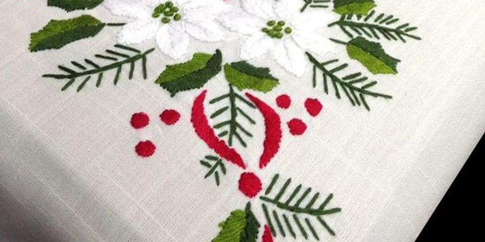 Crochet y bordado navideño