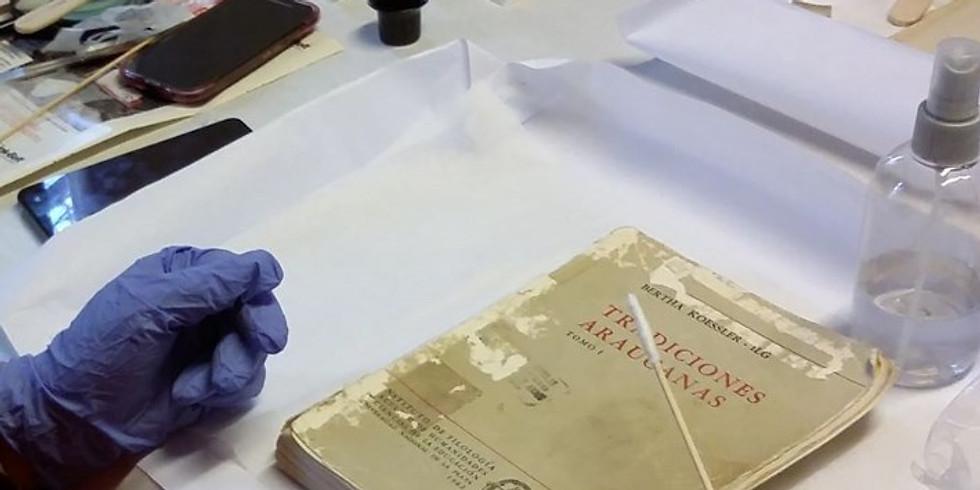 Conservación y Desinfección de libros en biblioteca