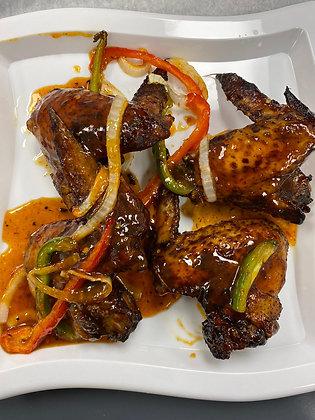 Mango habanero jerk chicken wings