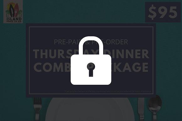 Thursday $95 Pre-Order Family Dinner Package