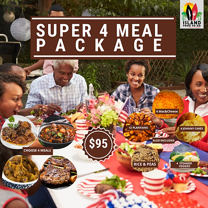 Super 4 Meal Package