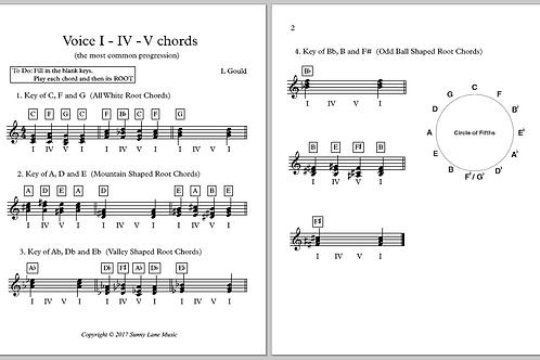 I IV V Worksheet