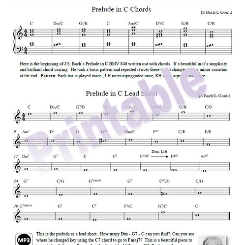 Bach Prelude in C Lead Sheet